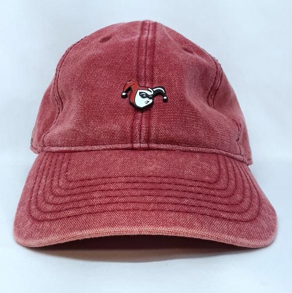 8a55672b213a5 Batman Accessories - Jester Harley Quinn UNISEX Red Dad Hat Cap